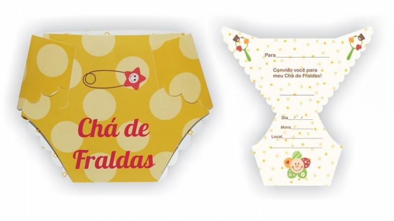 Convite - Chá De Fraldas (8 unidades)