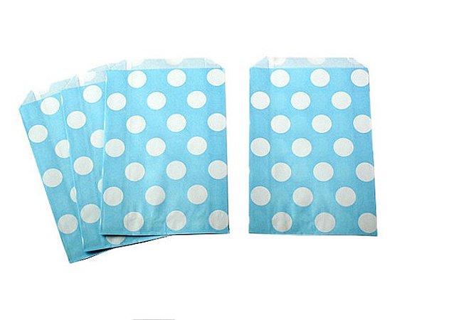 Saquinhos Decorados - Azul Bebê Big Dots
