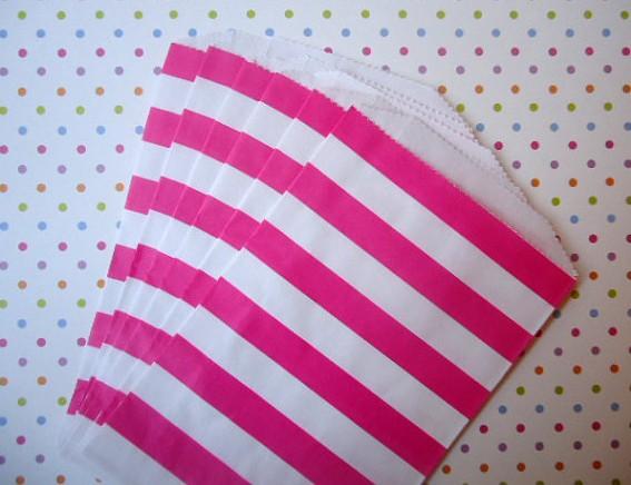 Saquinhos Decorados - Listrado Pink