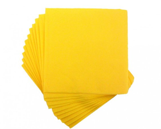 Guardanapos Amarelo- 25x25 Cm