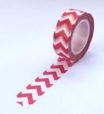 Washi Tape - Missoni  Vermelho