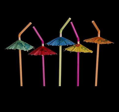 Canudo Neon Guarda-Chuva