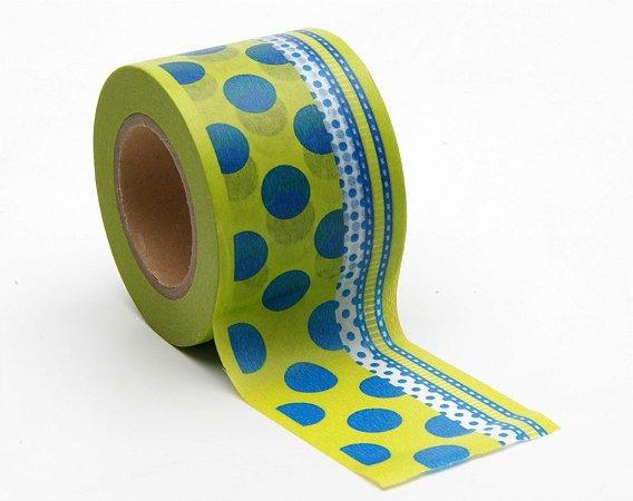 Washi Tape Bold - Verde e azul