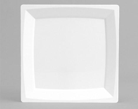 Prato 23,5cm Quadrado Milan Branco