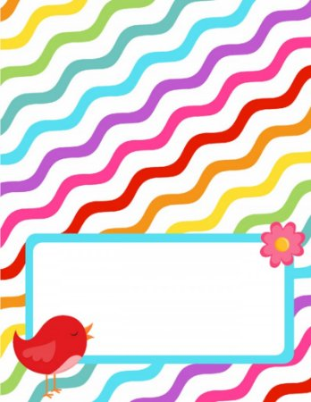 Place Card - Colorfull Bird