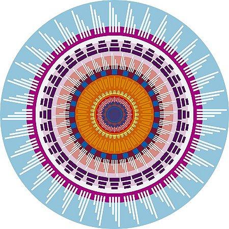Jogo americano De Papel  Mandala Turquesa (12 unidades) PROMOÇÃO