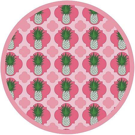 Jogo americano redondo De Papel Pineapple (12 unidades) PROMOÇÃO