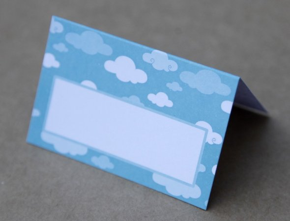 Place Card - Nuvens