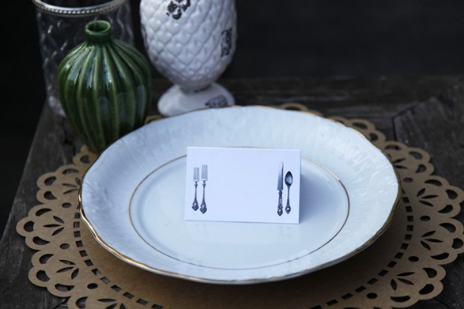 Place Card - Antique (6 unidades)