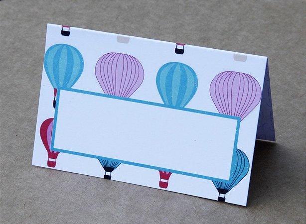 Place Card - Balões