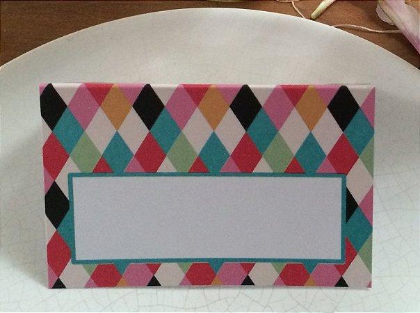 Place Card - Triângulos (6 unidades)