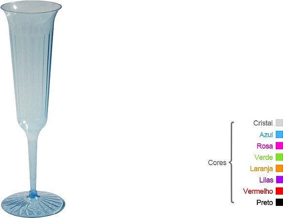 Taça Champagne  - 130ml - Transparente Modelada (5 unidades)