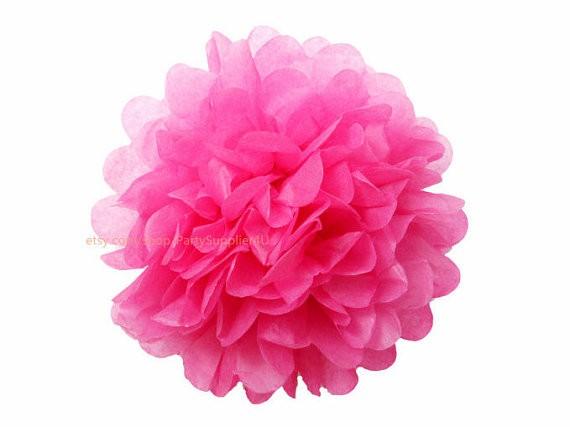 Pompom de Papel 30cm - Pink