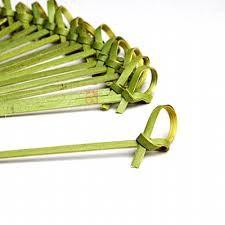 Palito De Bambu Nó Rustico 9cm (50 unidades)