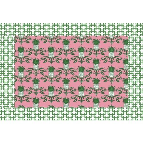 Jogo Americano - Pineapple Pink (12 unidades) PROMOÇÃO