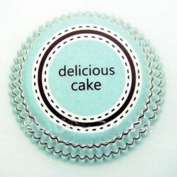Forminha Para Cupcake Forneável -  Delicious Azul
