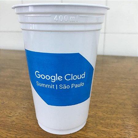 Copo Plastico Personalizado - 330ml -Branco ou Transparente