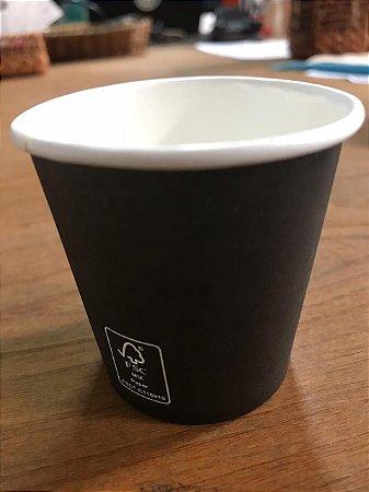 Copo De Papel 210ml - Preto (Pacote c/ 50 uni)