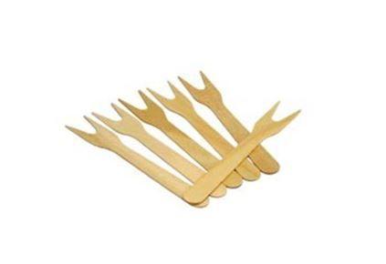Garfinho madeira sobremesa - (50 unidades)