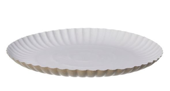 Prato Papelão Branco 15cm (10 unidades)