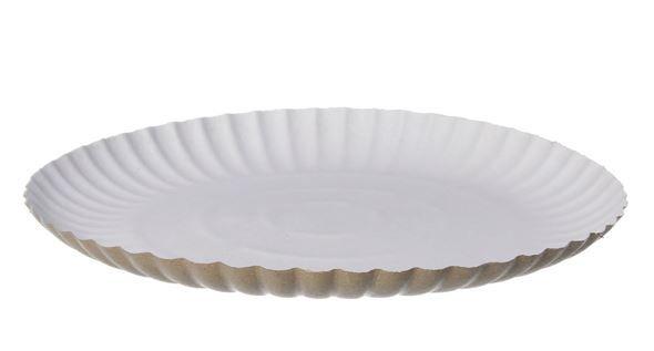 Prato Papelão Branco 20cm (10 unidades)