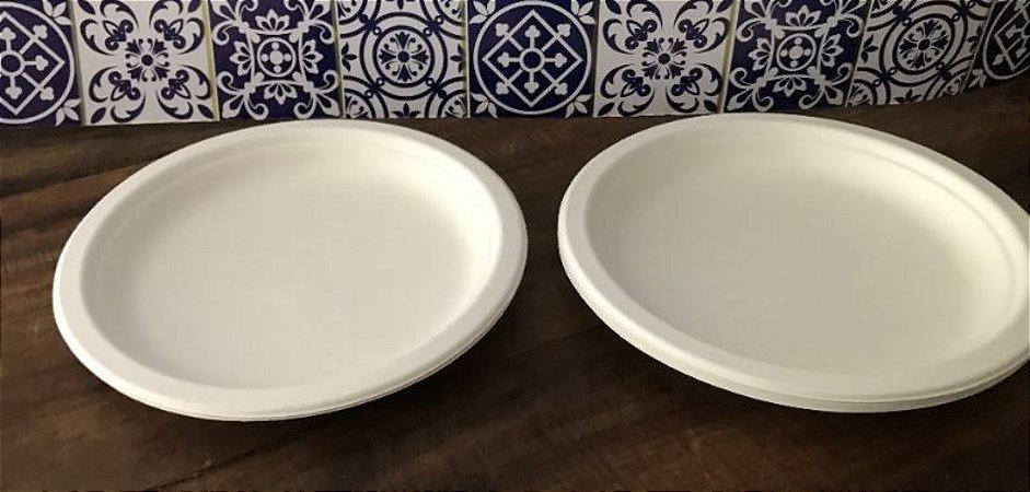 Prato 18cm Refeição- Bagaço de cana (1000 unidades)