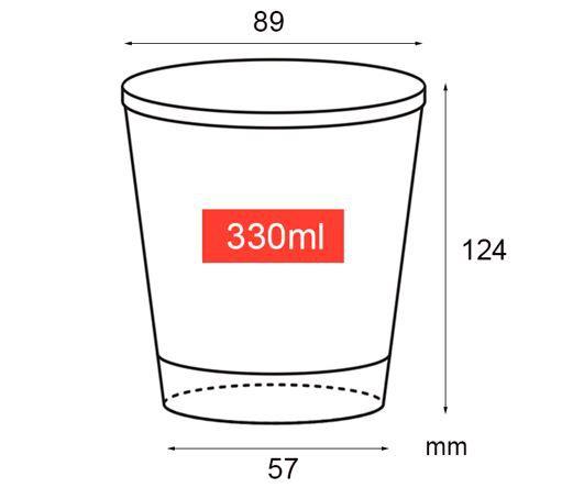 Copo de papel 330ml (Bebida fria)  (CAIXA 1.000 uni)