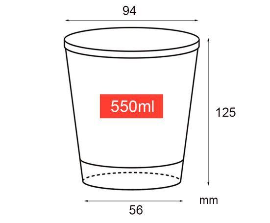 Copo de papel 550ml (Bebida fria)  (CAIXA 1.000 uni)