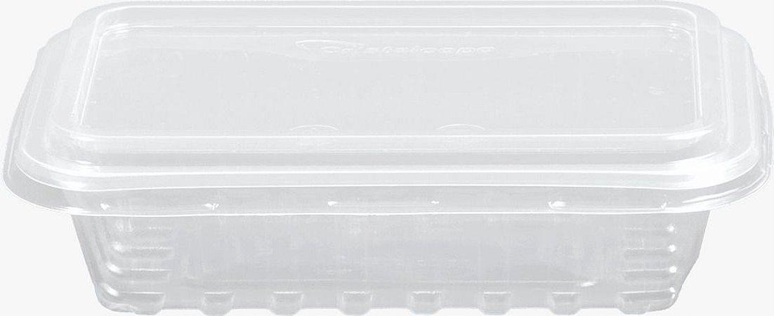 KIT MARMITA RETANGULAR -CRISTALMAXI 250ML -(Caixa 150 uni)
