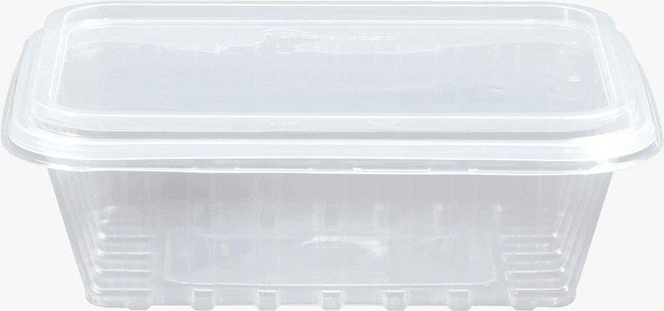 KIT MARMITA RETANGULAR -CRISTALMAXI 750ML -(Caixa 100 uni)