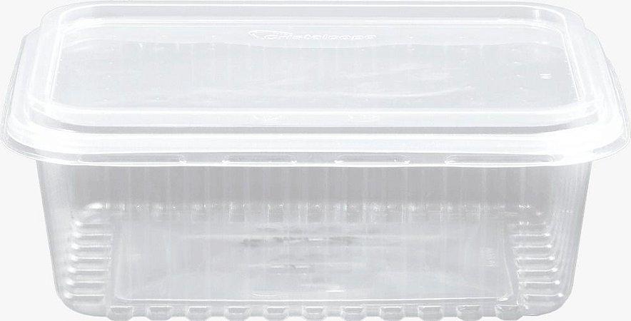 KIT MARMITA RETANGULAR -CRISTALMAXI 1000ML -(Caixa 100 uni)