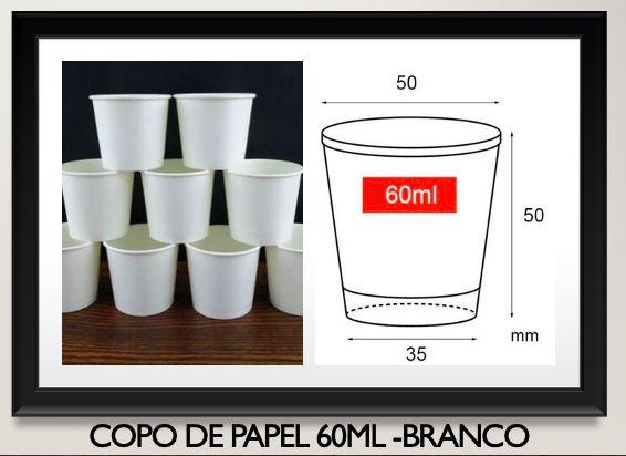 Copo de Papel P/ Café 60ml - Branco (CAIXA 2000 uni)