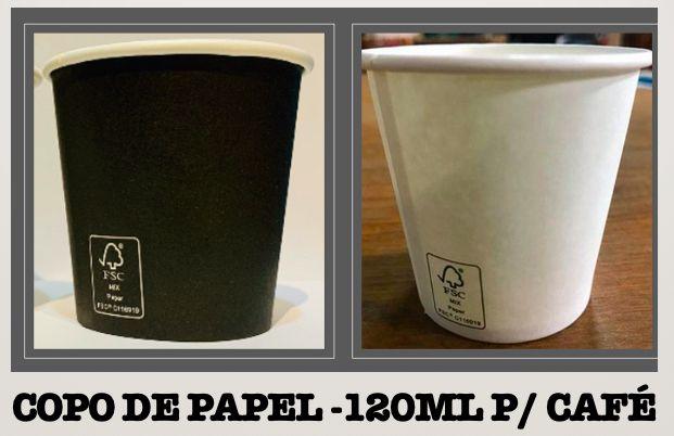 Copo De Papel 120ml - Varias cores (Caixa 1.000 uni)