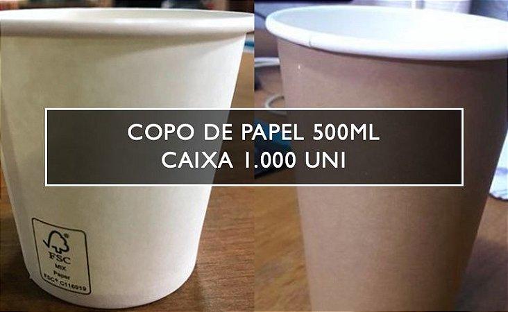 Copo De Papel 500ml - Varias cores (Caixa 1.000 uni)