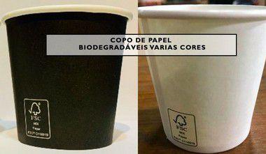 Copo de papel 210ml - Bebidas quentes ou frias (Com selo FSC)