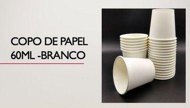 Copo de Papel P/ Café 60ml - Caixas ou pacotes