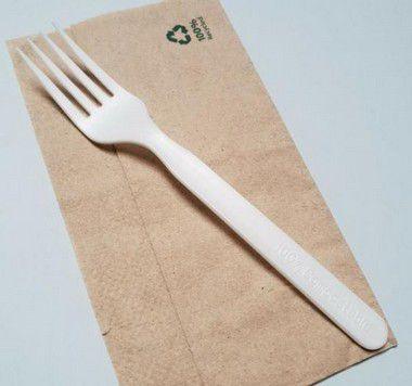 Garfo Biodegradável CPLA  - Caixa ou pacotes