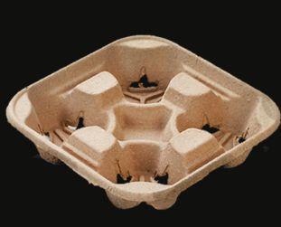 Suporte para 4 copos biodegradável - Caixa 300 unidades