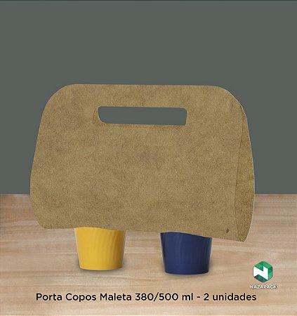 Porta Copos Maleta 380 / 500 ml- P/ dois copos -Caixa 100 unidades