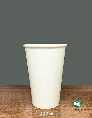 Copo Polipapel 300ml  -Kraft ou Branco - Lançamento