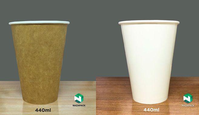 Copo Polipapel 440ml  -Kraft ou Branco - Lançamento