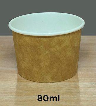 Pote Polipapel 80ml  -Kraft ou Branco - Lançamento
