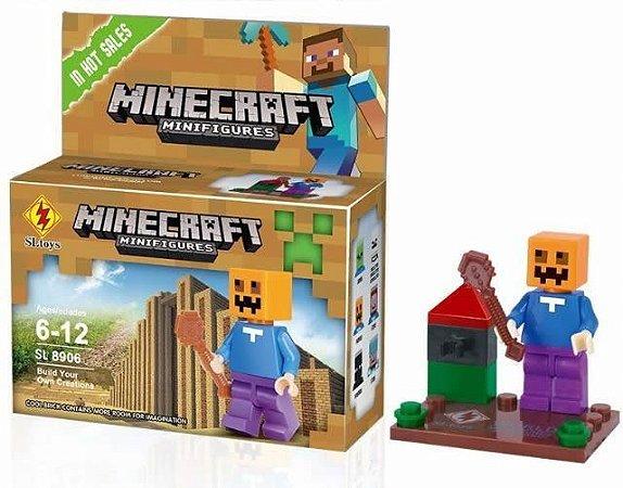 Minifigures Minecraft - Blocos De Montar - Pumpkin
