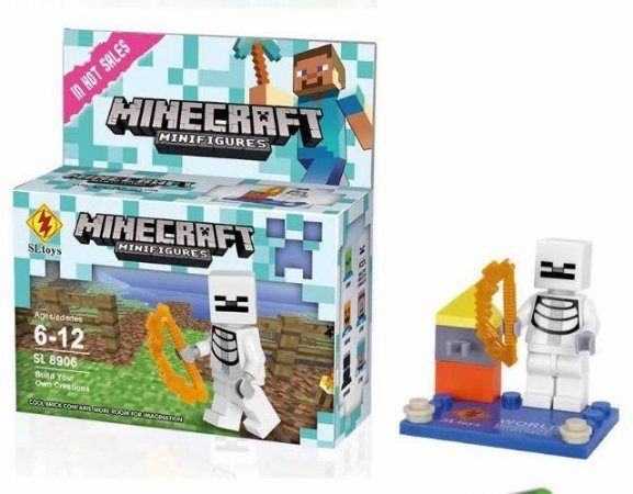 Minifigures Minecraft - Blocos De Montar - Skeleton Skelette Esqueleto