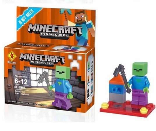 Minifigures Minecraft - Blocos De Montar - Zombie