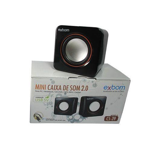 CAIXA DE SOM 2.0 PARA PC - EXBOM CS-39