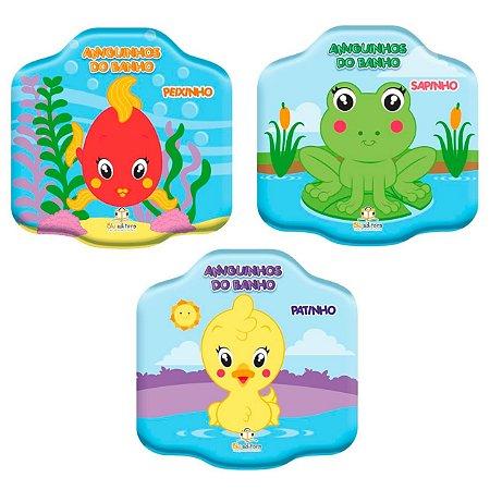 Coleção Amiguinhos do Banho com 3 Livros Infantis