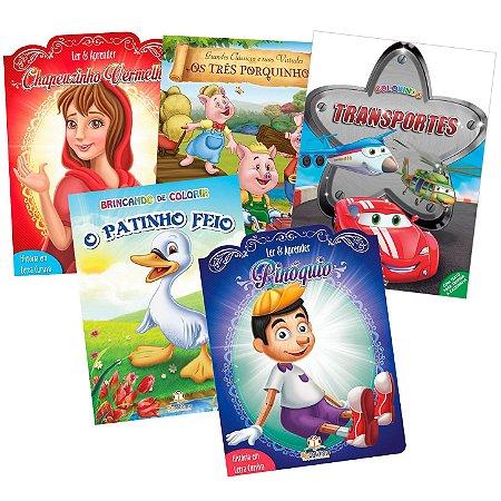 Coleção de 20 Livros Infantis Sortidos