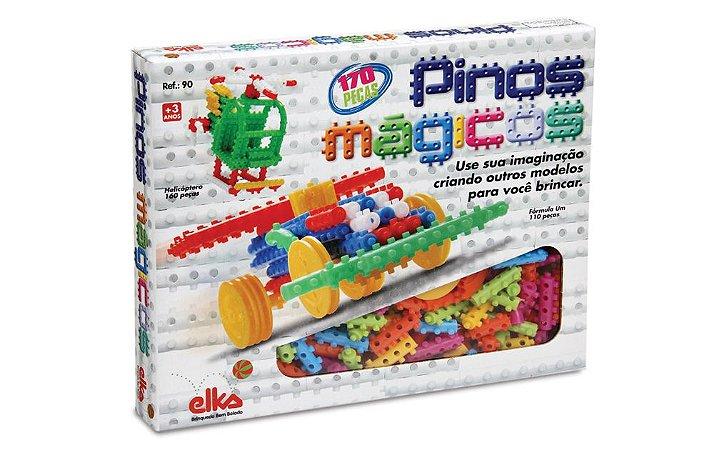 Brinquedo Pinos Mágicos 170 Peças