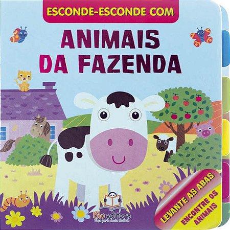 Livro Esconde Esconde Animais da Fazenda